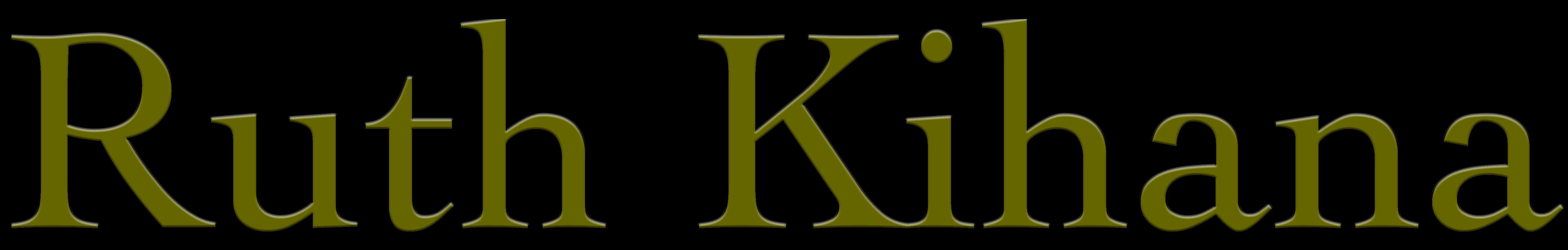 a Japanese Singer Songwriter Ruth Kihana - Website Logo (シンガーソングライター ルース・キハナのウェブサイトロゴ)